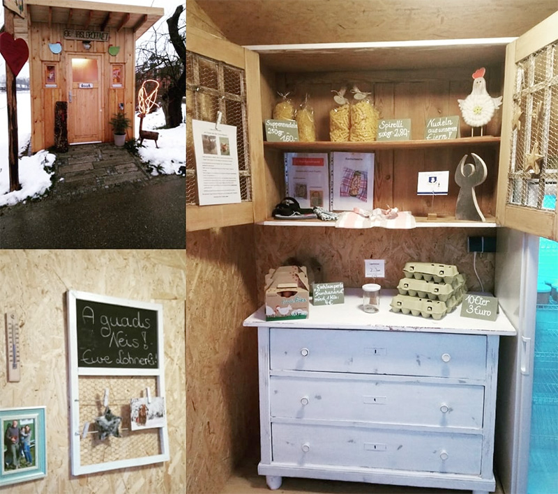Eierhaus, frische Eier, Freilandhaltung, mobile Hühnerhaltung